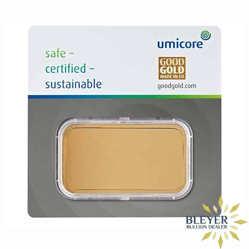 100g Umicore Minted Gold Bar