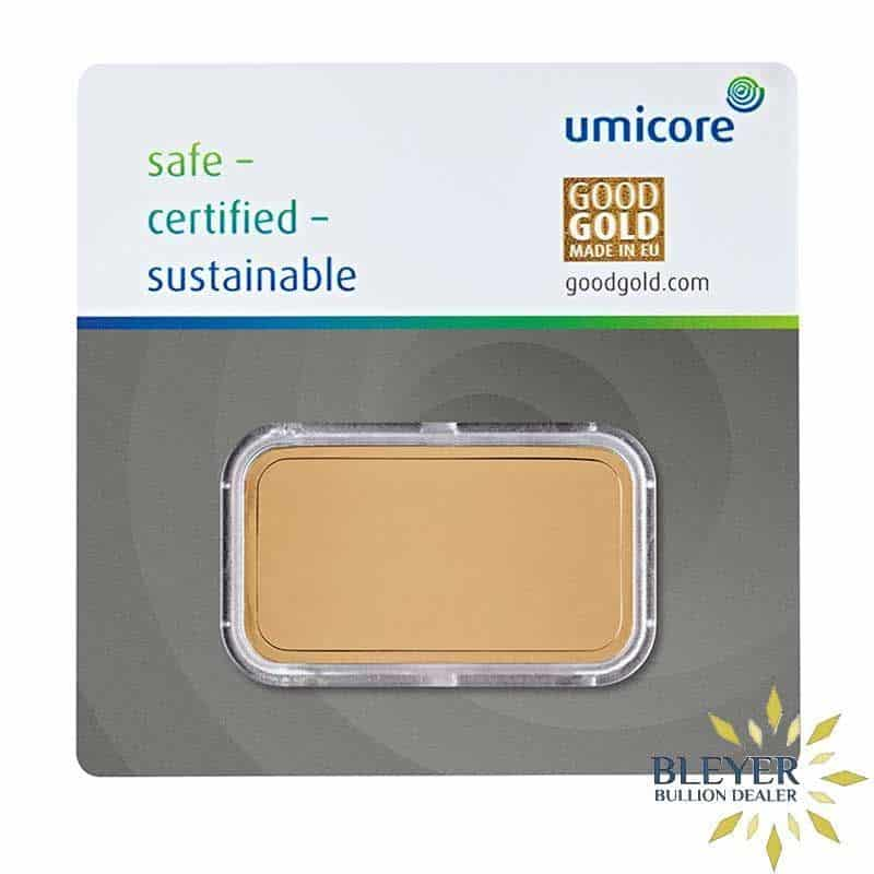 50g Umicore Minted Gold Bar