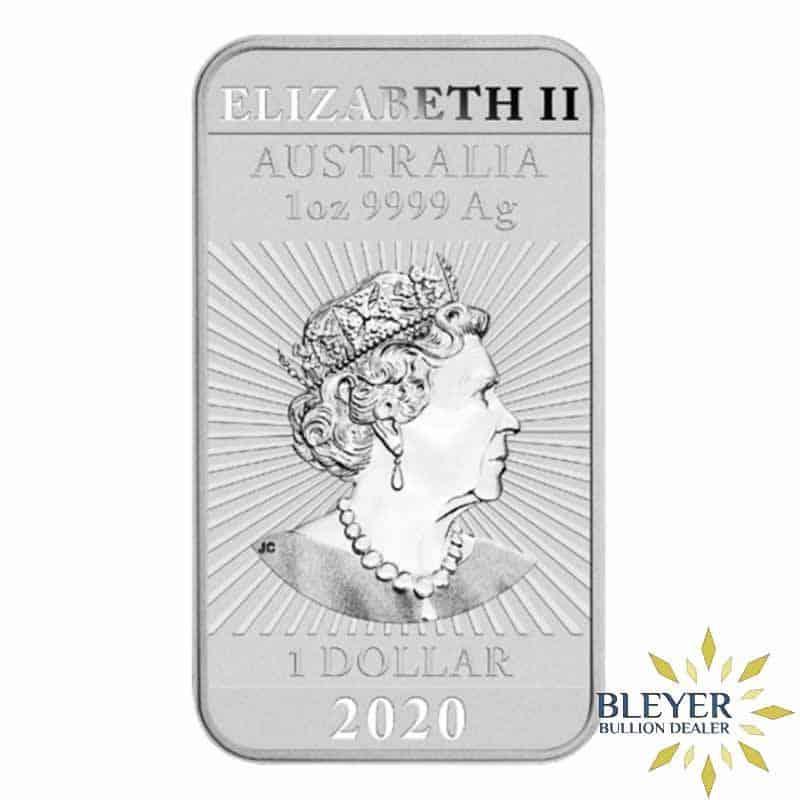 1oz Dragon Rectangular Silver Coin, 2020