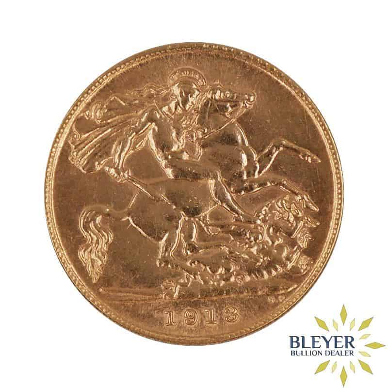 UK Gold Half Sovereign - George V