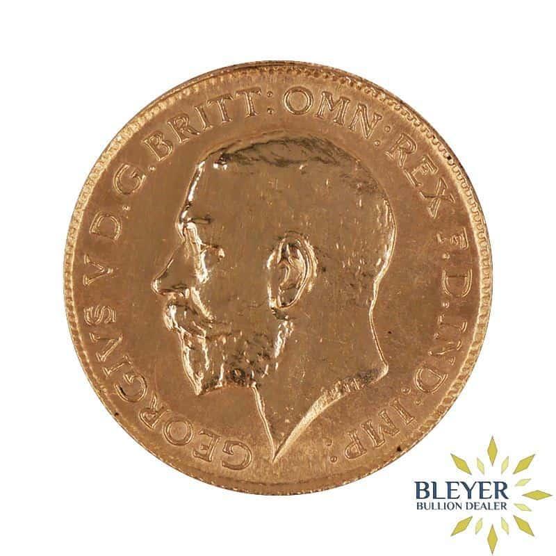 UK Gold Half Sovereign - George V