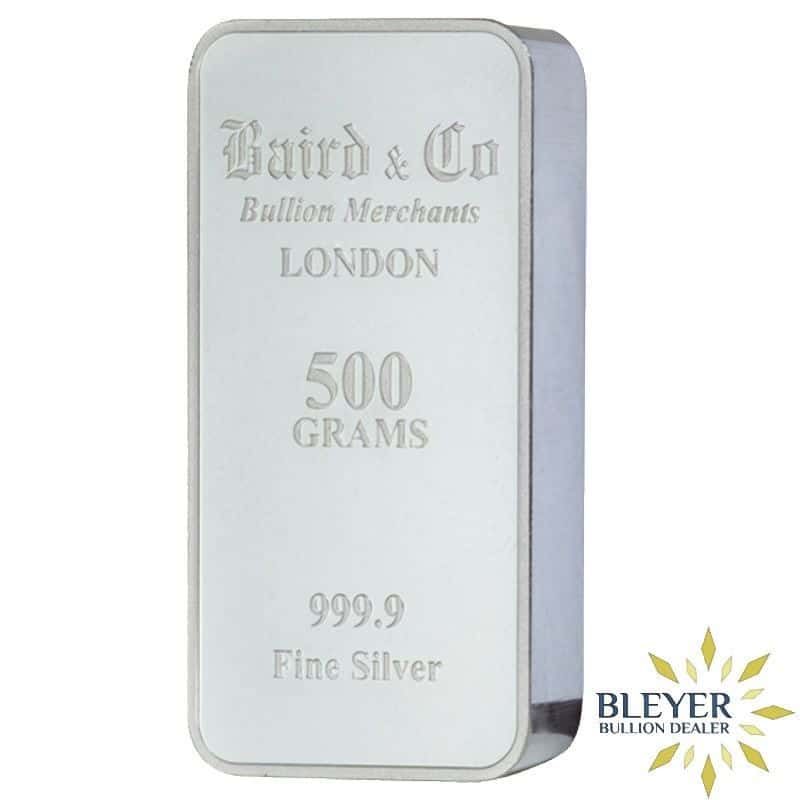 Pre-owned 500g Baird & Co Minted Silver Bar