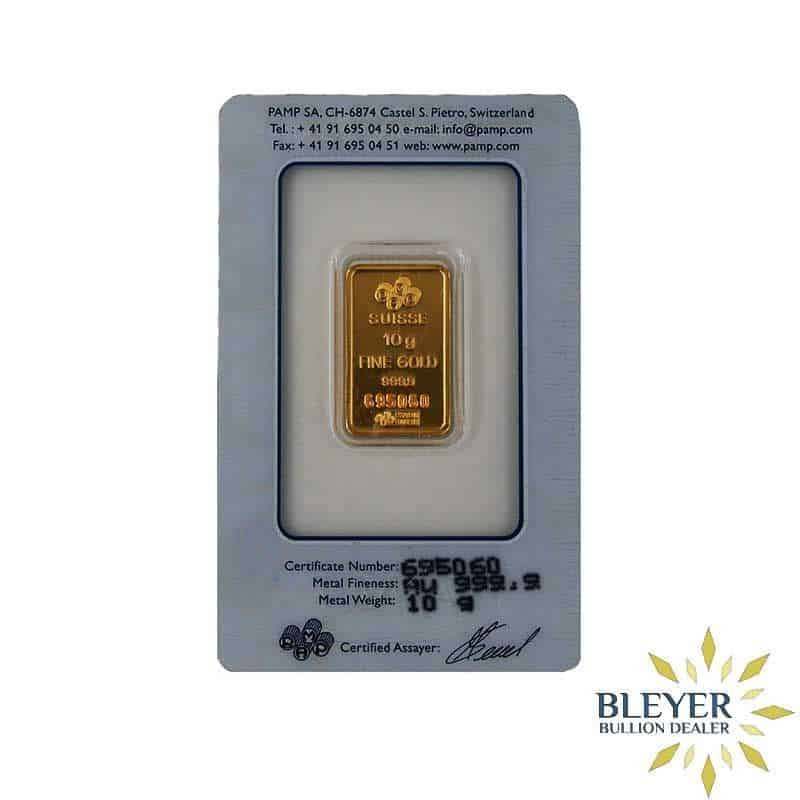 10g Pamp Minted Gold Bar