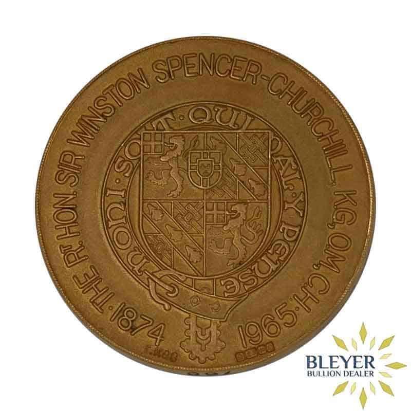 Winston Churchill 22 Carat Gold Medallion, 1965 (36.67g gold content)
