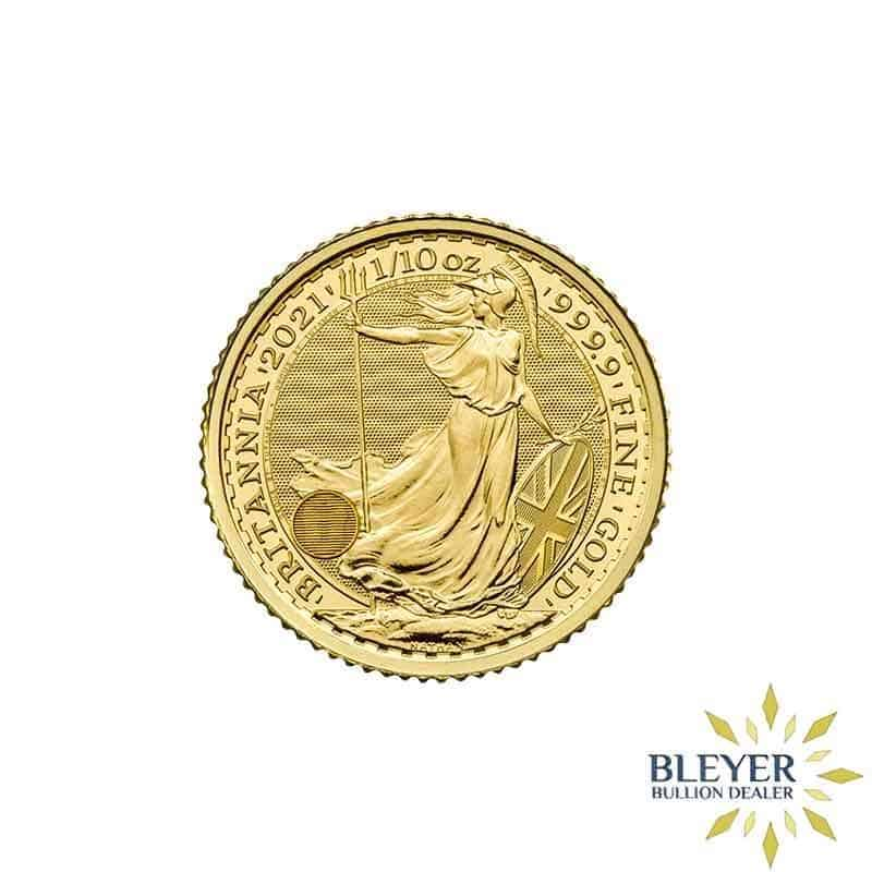 Pre-order 1/10oz Gold UK Britannia Coin, 2021
