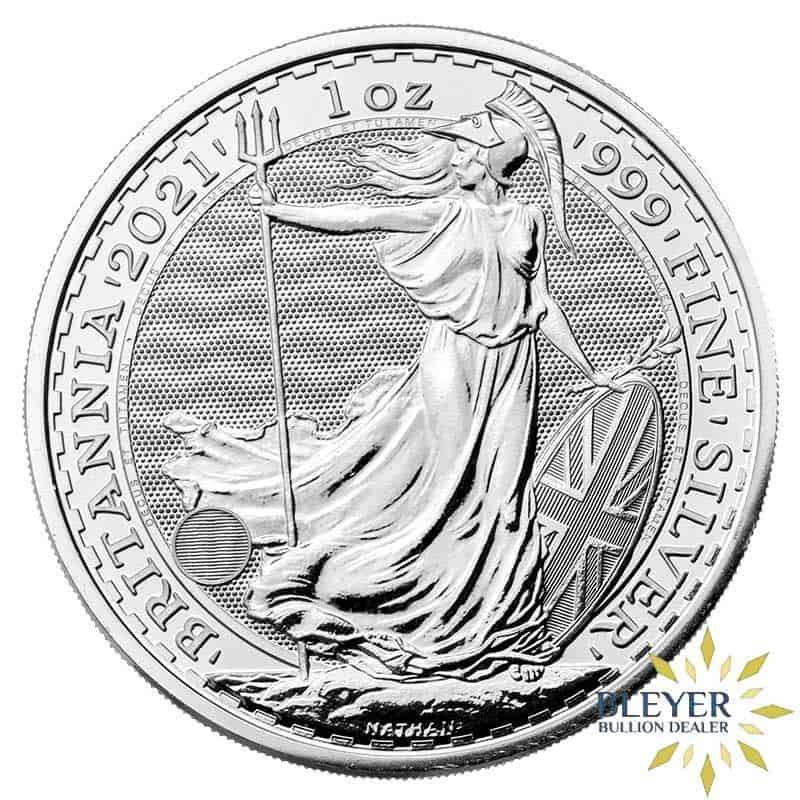 1oz Silver UK Britannia Coin, 2021