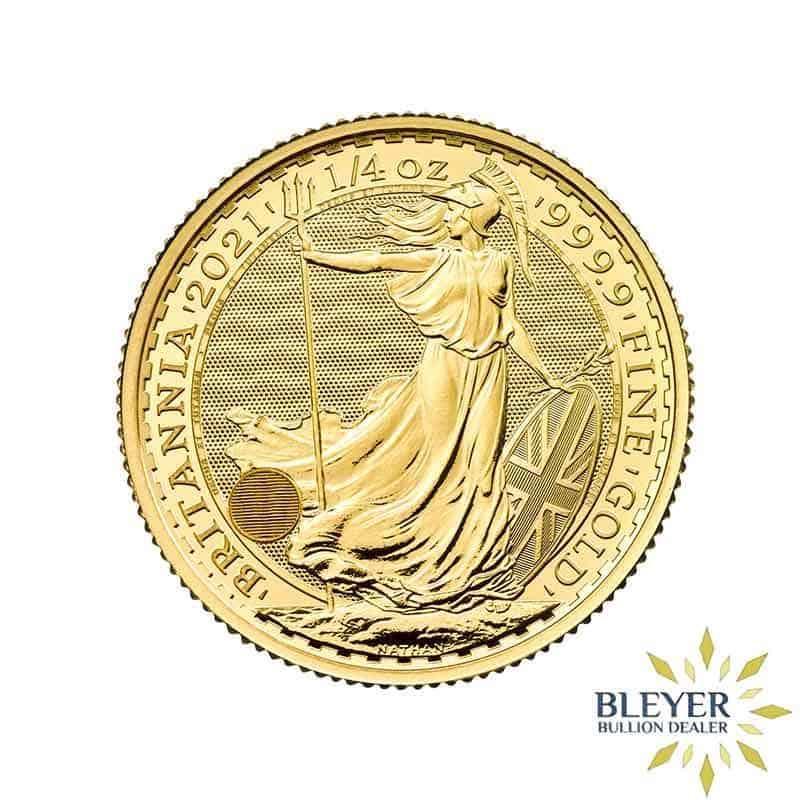 Pre-order 1/4oz Gold UK Britannia Coin, 2021