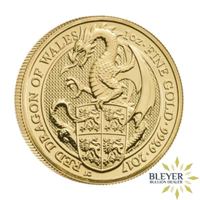 1/4oz Gold UK Queen's Beasts Dragon, 2017