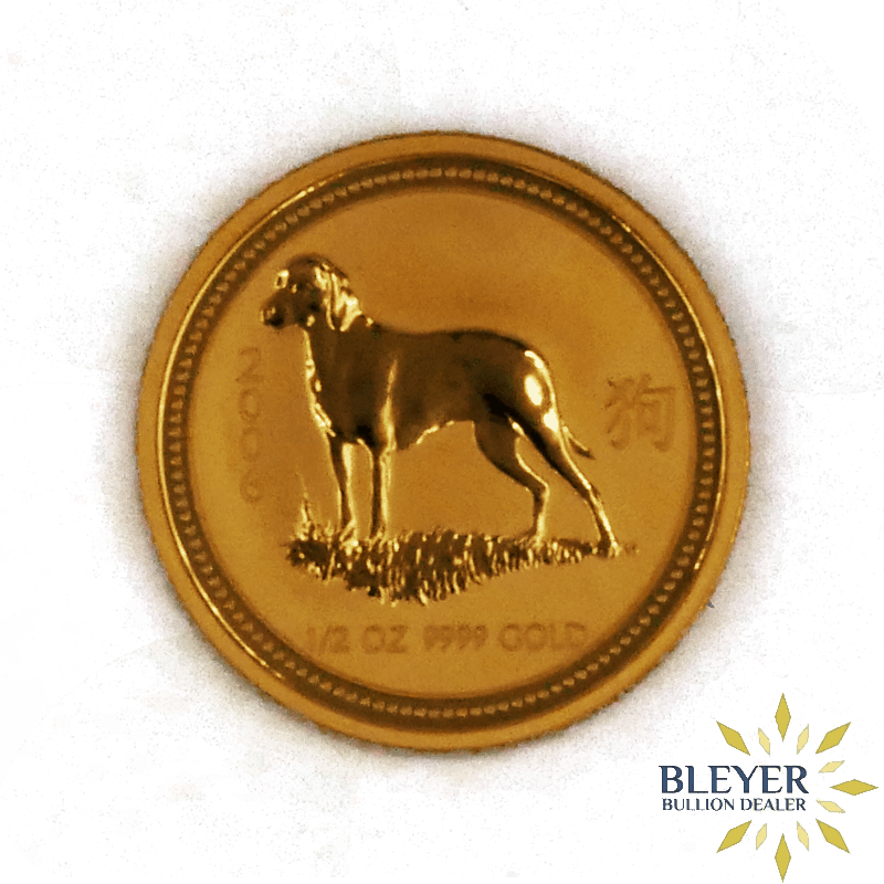 1/2oz Gold Australian Lunar Dog Coin, 2006