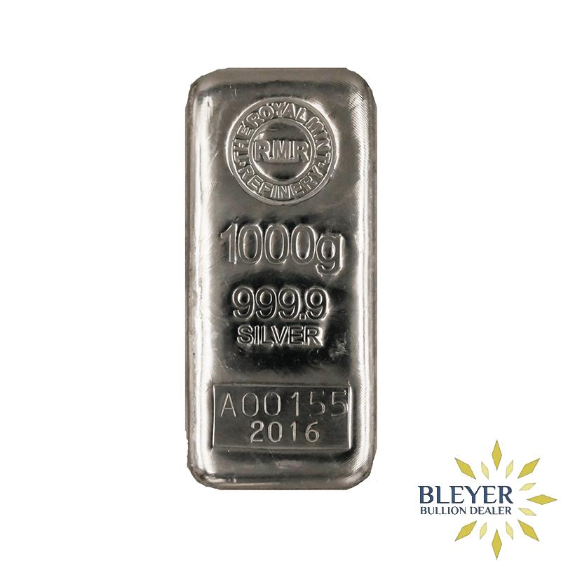 1kg Royal Mint Cast Silver Bar