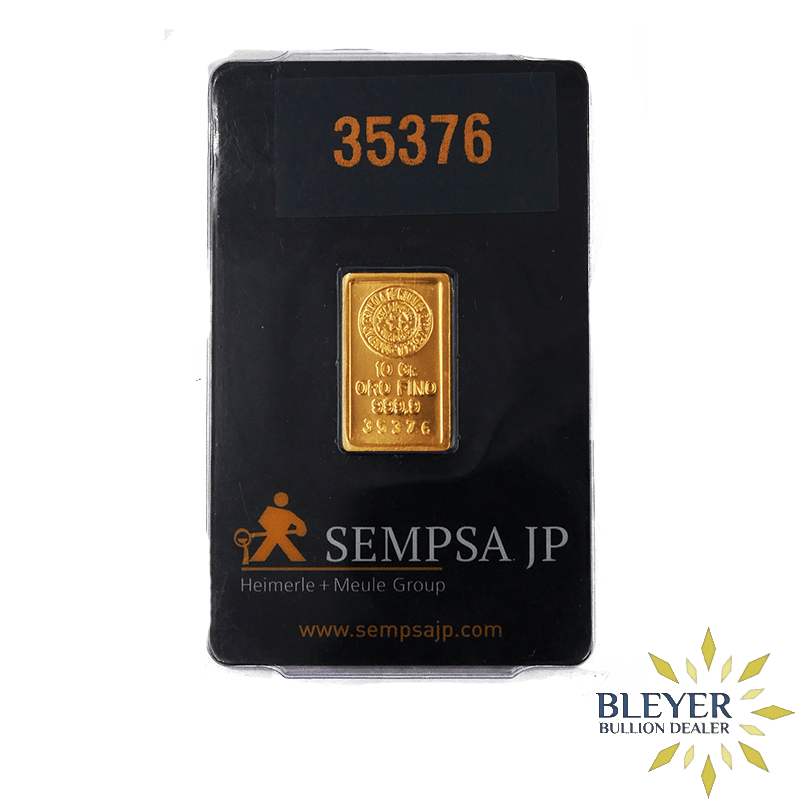 10g Sempsa Gold Bar, Minted