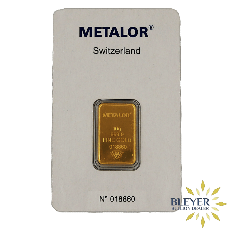 10g Metalor Minted Gold Bar