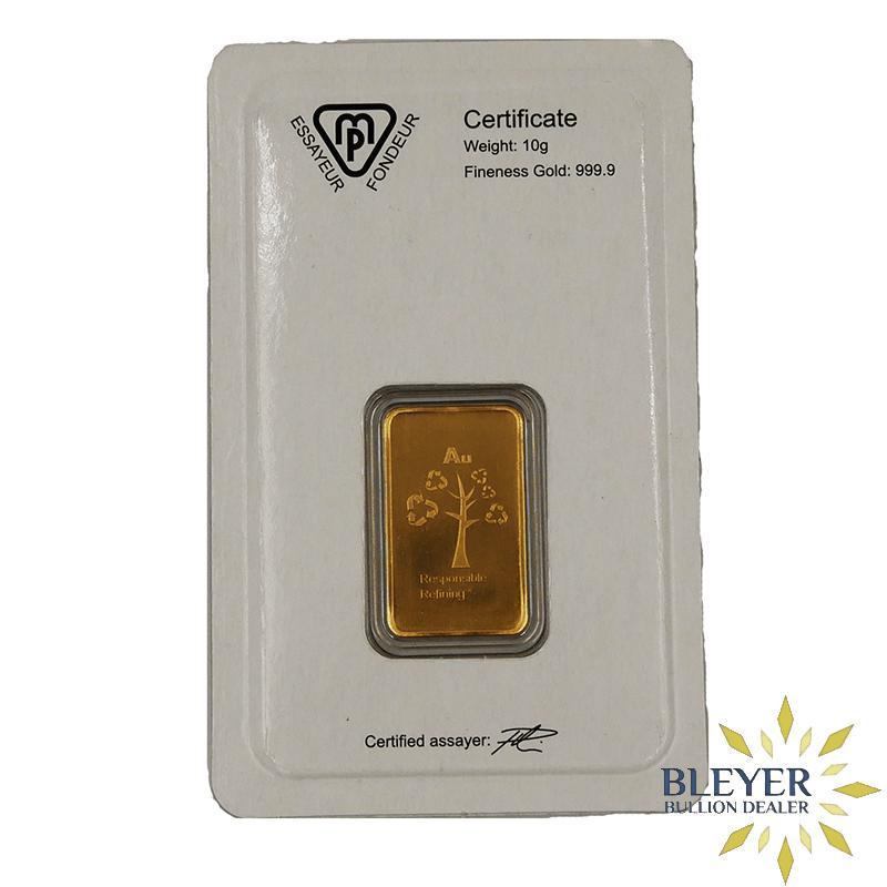 10g Metalor Minted Gold Bar