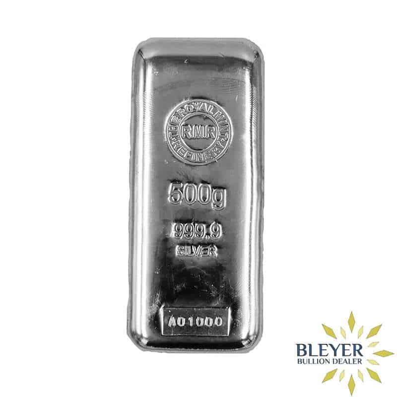 500g Royal Mint Cast Silver Bar