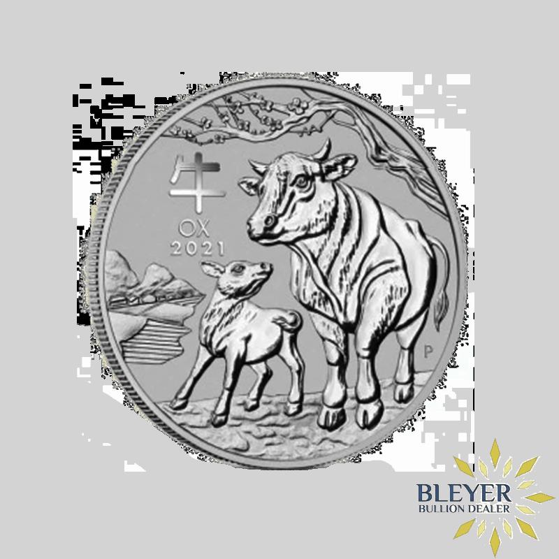 1oz Silver Australian Lunar Ox Coin, 2021