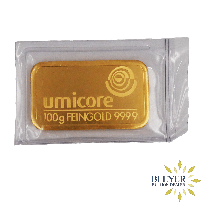 Best Value 100g Umicore Minted Gold Bar