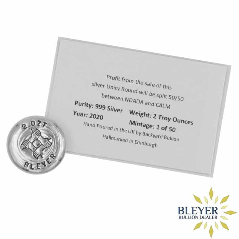 2oz Silver Bleyer Hand Poured Unity Round 2020