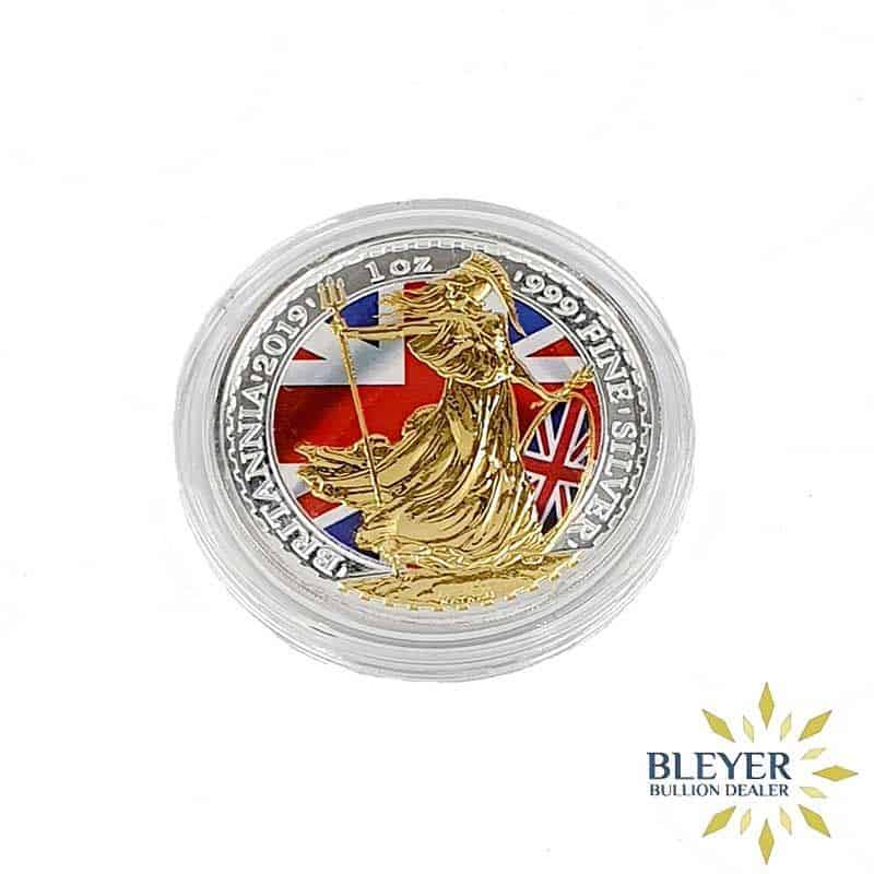 1oz Silver Colourised Patriot Britannia, 2019