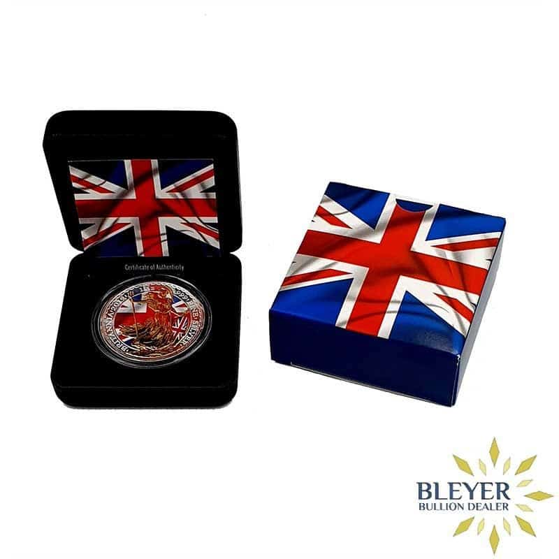 1oz Silver Colourised Patriot Britannia, 2019