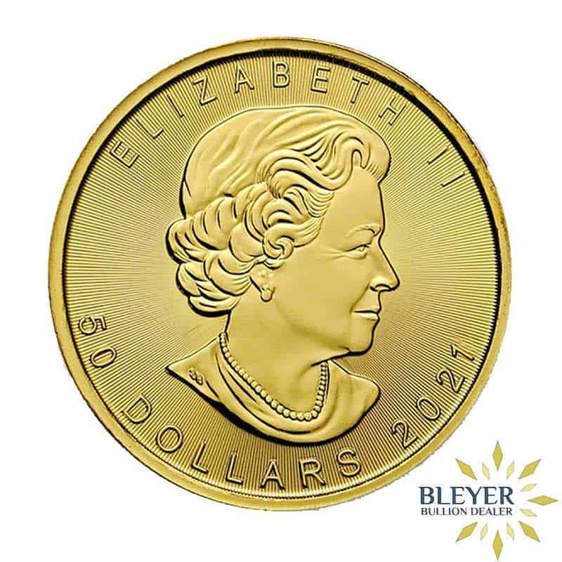 1oz Gold Canadian Maple Leaf Coin, 2021