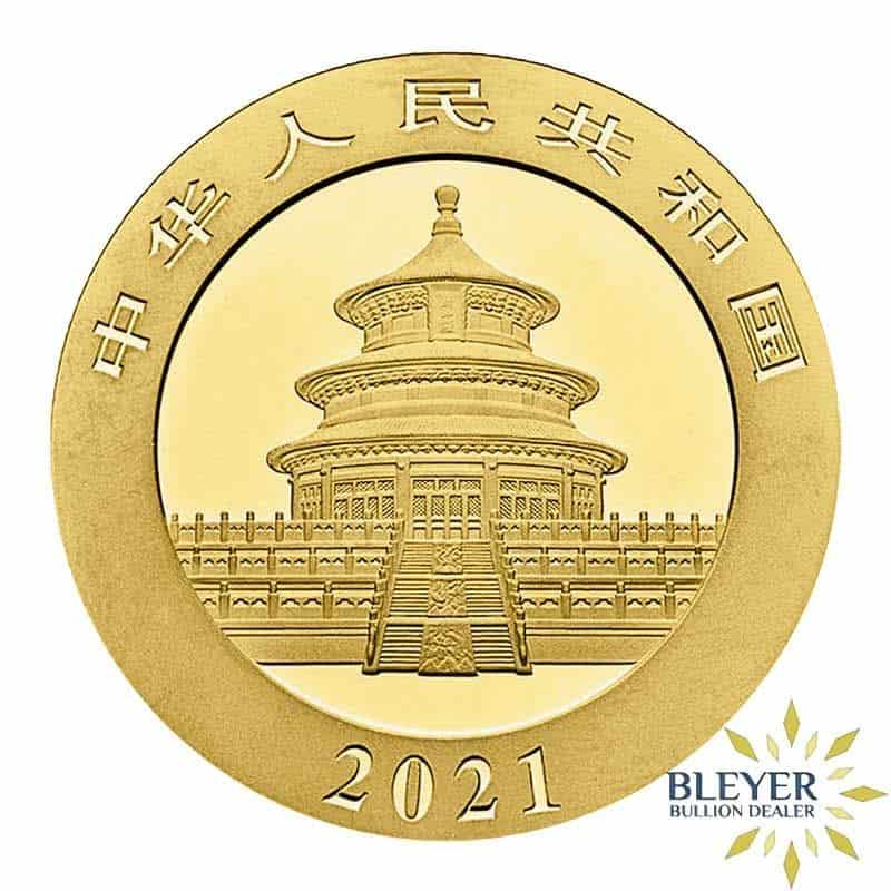 30g Gold Chinese Panda Coin, 2021