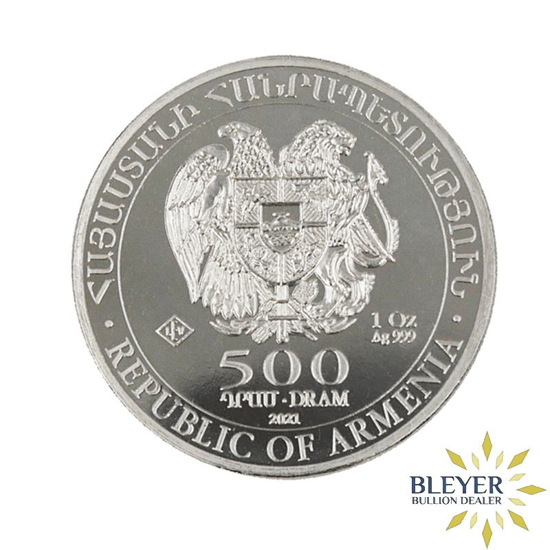 1oz Silver Armenian Noah's Ark Coin, 2021