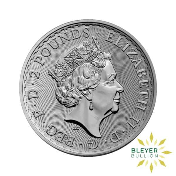 Bleyers Coin 1oz Silver Colourised Burning Britannia 2019 2