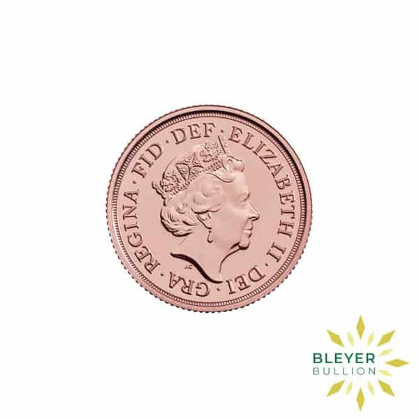 Bleyers Coin Cutouts Gold Sovereign back