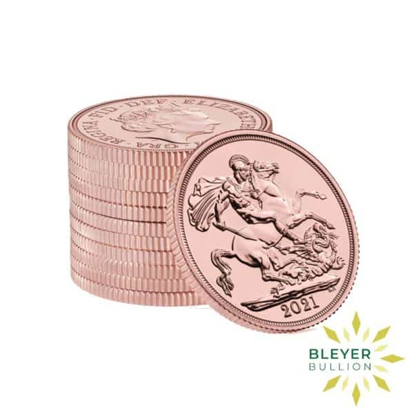 Bleyers Coin Cutouts Gold Sovereign stack