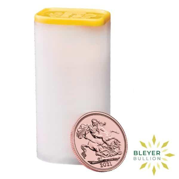 Bleyers Coin Cutouts Gold Sovereign tube