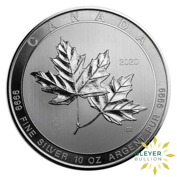 Silver Canadian Maple Coins 2020 10oz F