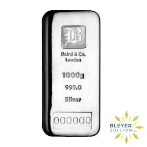 Bleyers Bar 1kg Baird Co Cast Silver Bar Storage Only