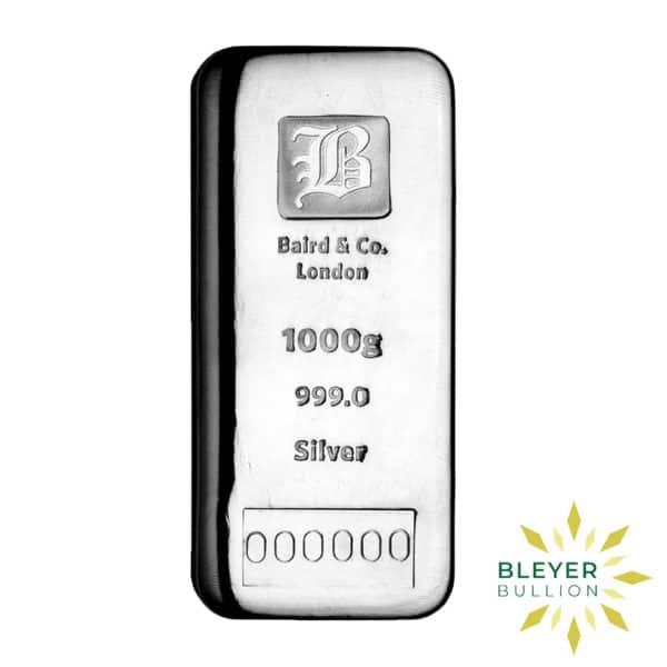 Bleyers Bar 1kg Baird Co Cast Silver Bar Storage Only