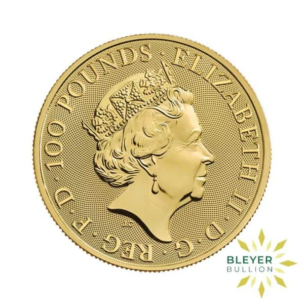 Bleyers Coin 1oz Gold Royal Arms 2021 BACK