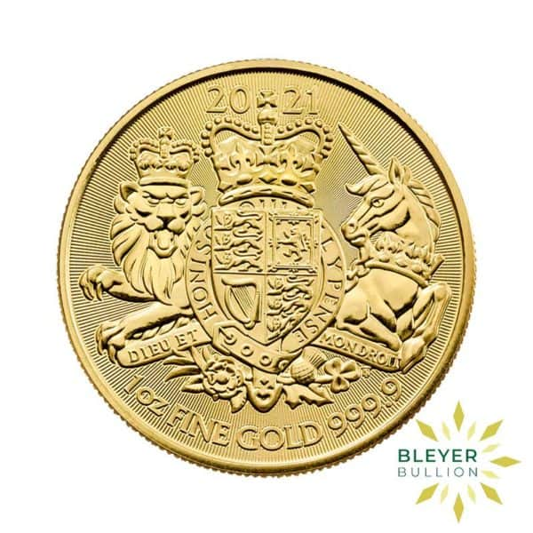 Bleyers Coin 1oz Gold Royal Arms 2021 FRONT
