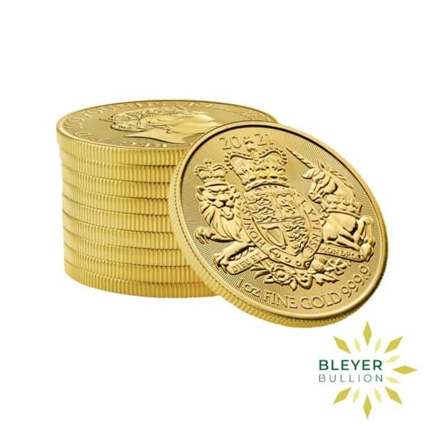 Bleyers Coin 1oz Gold Royal Arms 2021 STACK