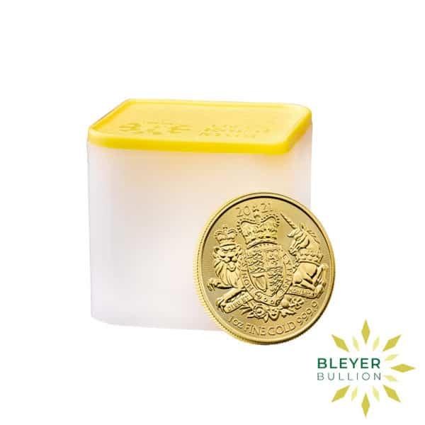 Bleyers Coin 1oz Gold Royal Arms 2021 TUBE