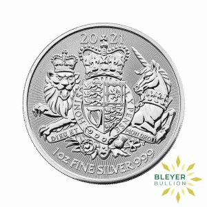 Bleyers Coin 1oz Silver Royal Arms 2021 FRONT
