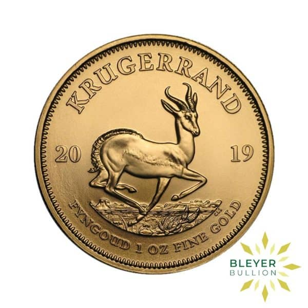 Bleyers Coin Cutouts 1oz Gold South African Krugerrand Coin 2019 Front