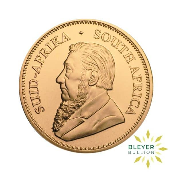 Bleyers Coin Cutouts 1oz Gold South African Krugerrand Coin 2021 1oz Back
