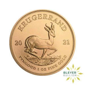 Bleyers Coin Cutouts 1oz Gold South African Krugerrand Coin 2021 1oz Front