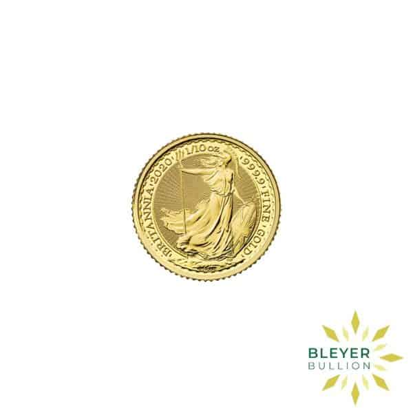 Bleyers Coin Cutouts 2020 Gold UK Britannia Coins 1 10oz Front