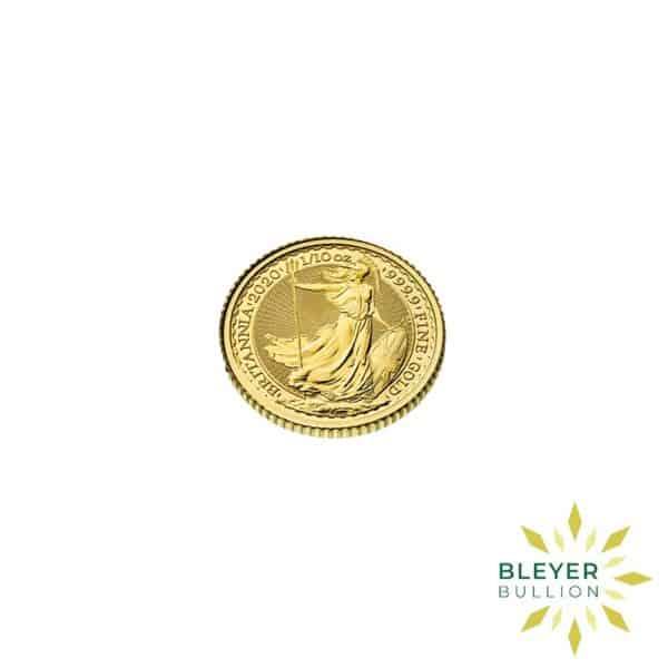 Bleyers Coin Cutouts 2020 Gold UK Britannia Coins 1 10oz Side