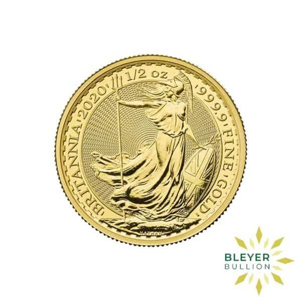 Bleyers Coin Cutouts 2020 Gold UK Britannia Coins 1 2oz Front 1