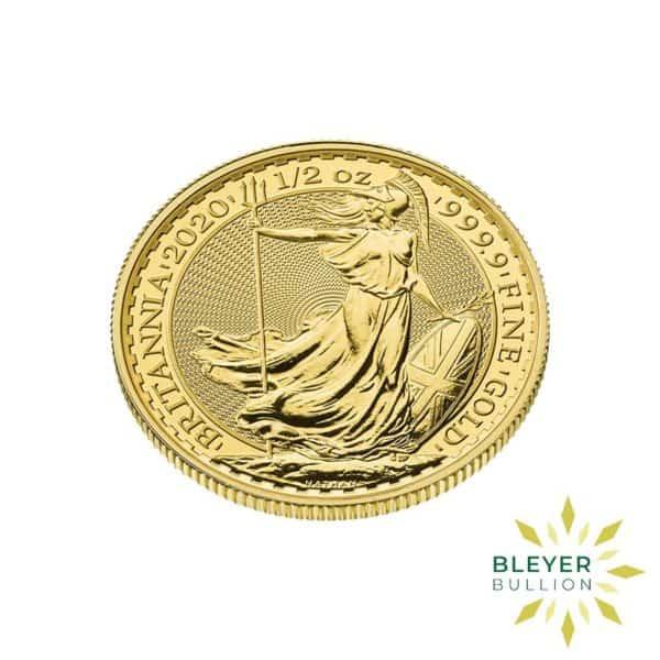 Bleyers Coin Cutouts 2020 Gold UK Britannia Coins 1 2oz Side 1