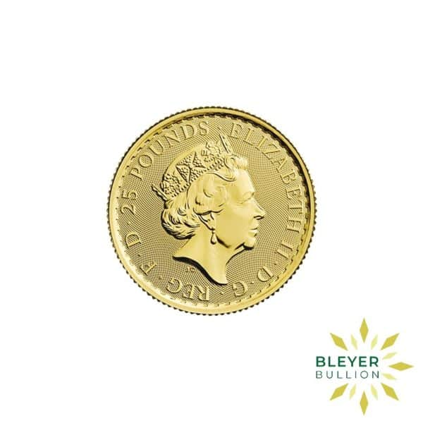Bleyers Coin Cutouts 2020 Gold UK Britannia Coins 1 4oz Back