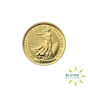 Bleyers Coin Cutouts 2020 Gold UK Britannia Coins 1 4oz Front
