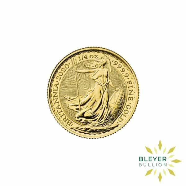 Bleyers Coin Cutouts 2020 Gold UK Britannia Coins 1 4oz Front
