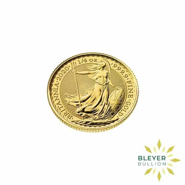 Bleyers Coin Cutouts 2020 Gold UK Britannia Coins 1 4oz Side
