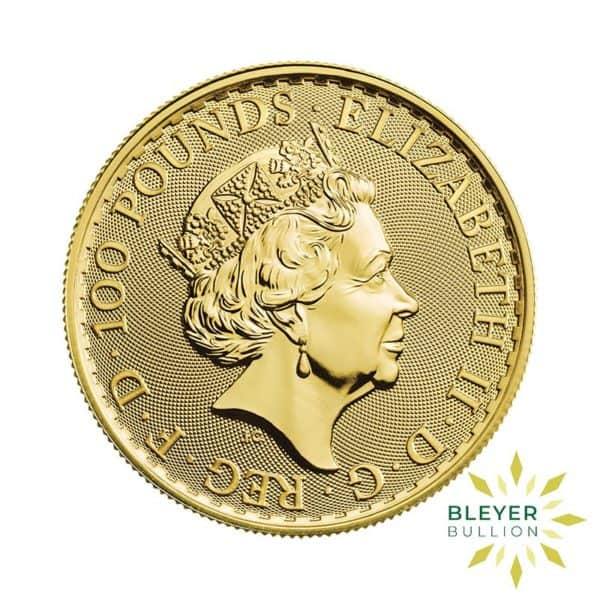 Bleyers Coin Cutouts 2020 Gold UK Britannia Coins 1oz Back